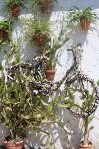 un petit vélo sur un mur